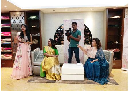 Clothing Designer Sasya's Women of Substance Saree Draping Event