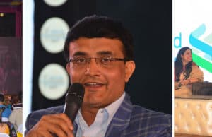 Saurav Ganguly And Boria Mazumdar Enthrall The Crowd With Cricket Gossip