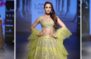 Anushree Reddy And SVA By Sonam And Paras Modiat LFW