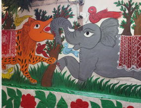 A 100 foot Patachitra mural with a permanence for Kolkata!