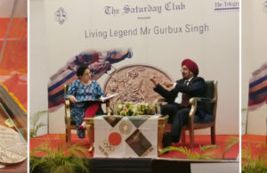 Living Legend Gurbux Singh, at the Saturday Club