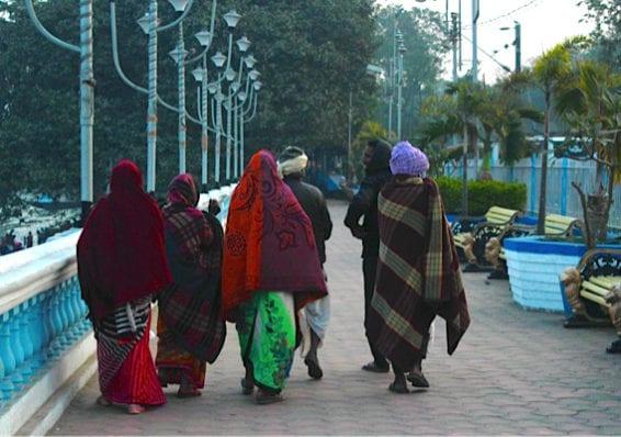 Pilgrims Preparing for Ganga Sagar