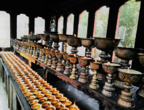MOUNTAIN PRAYER WHEELS, BELLS AND FLAGS